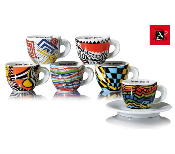 """ARLECCHINO"" espresso cups collection set"